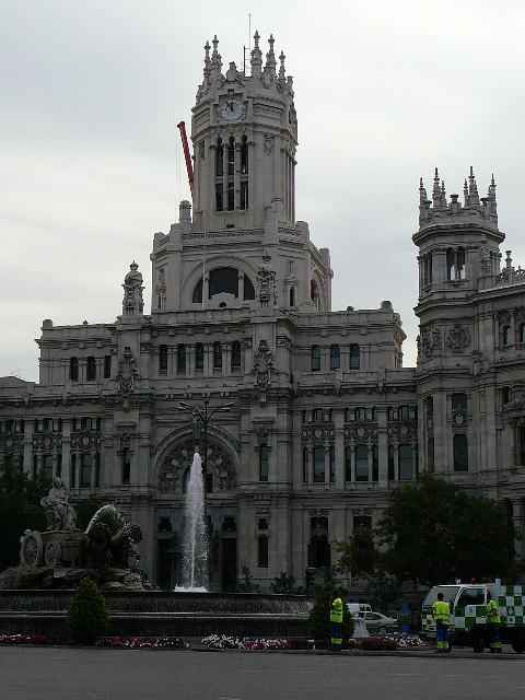 09 Madrid Statue de Cibeles et Palais des Communications