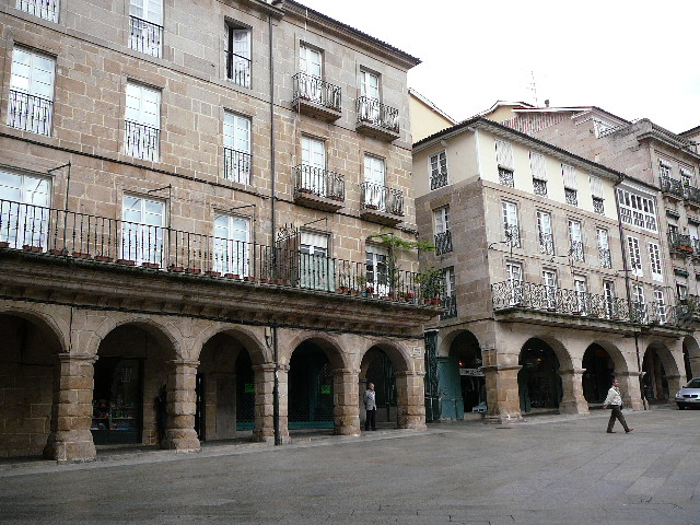 06 Orense Arcades de la <i>Plaza Mayor</i>