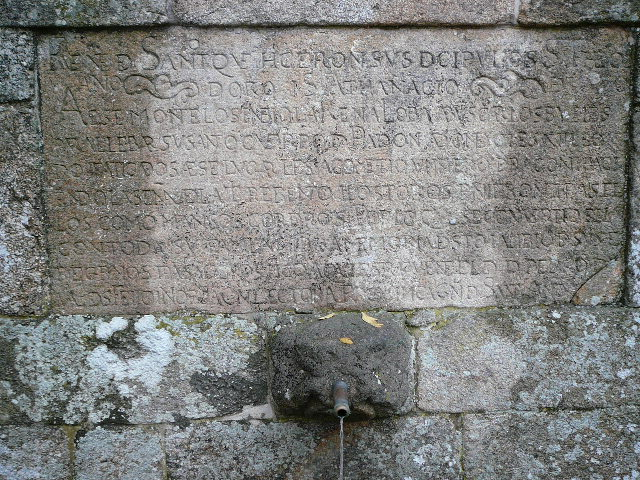 Inscription &agrave; la Fontaine <i>Santiagui&ntilde;o</i>